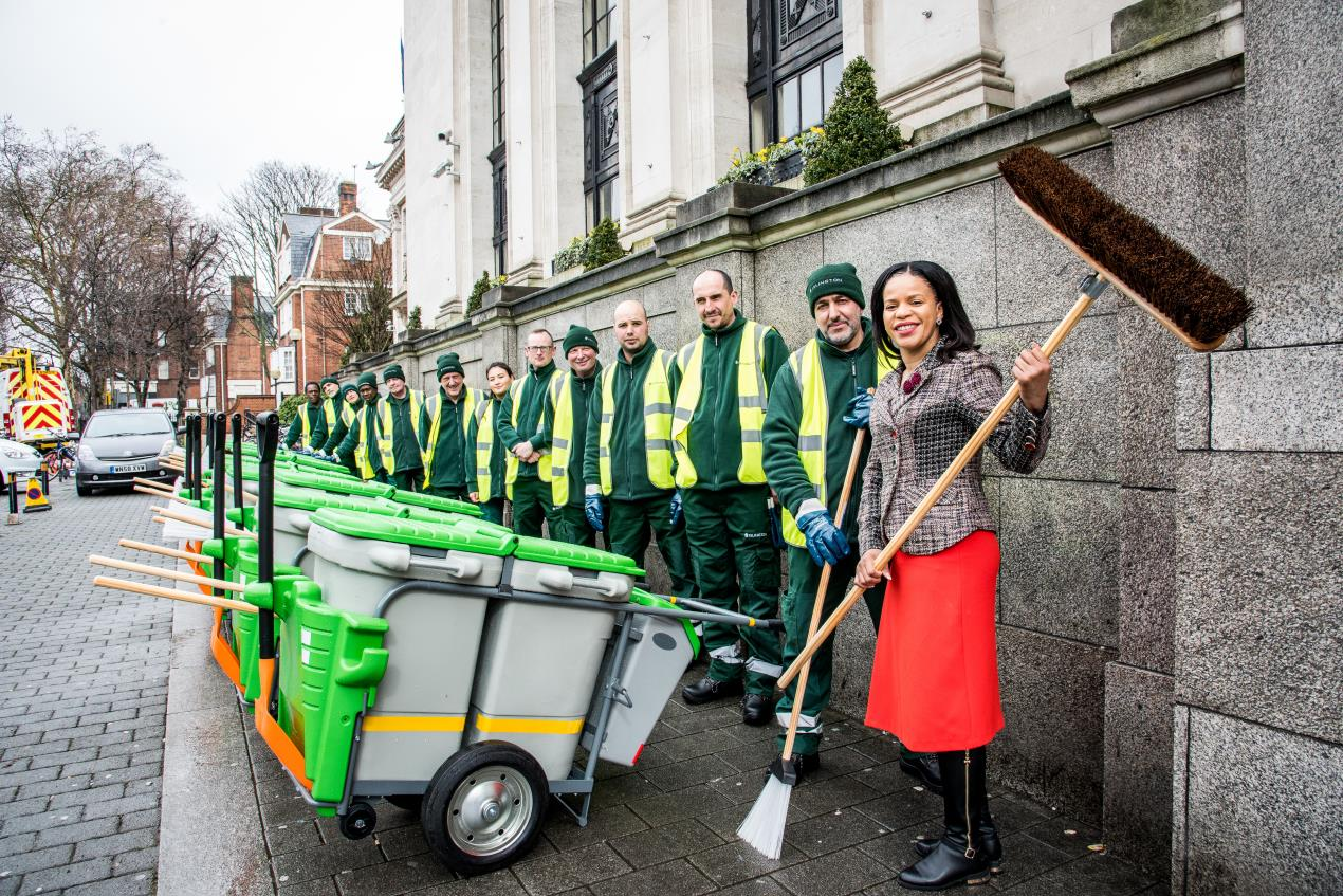 Cllr_Claudia_Webbe%2c_executive_member_for_environment_and_transport%2c_at_Islington_Town_Hall_with_some_of_the_street_beat_sweepers.