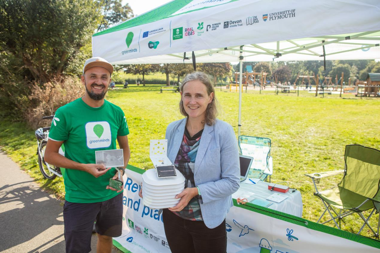 The Green Minds Living Lab team at their stall in Central Park_Credit_University of Plymouth