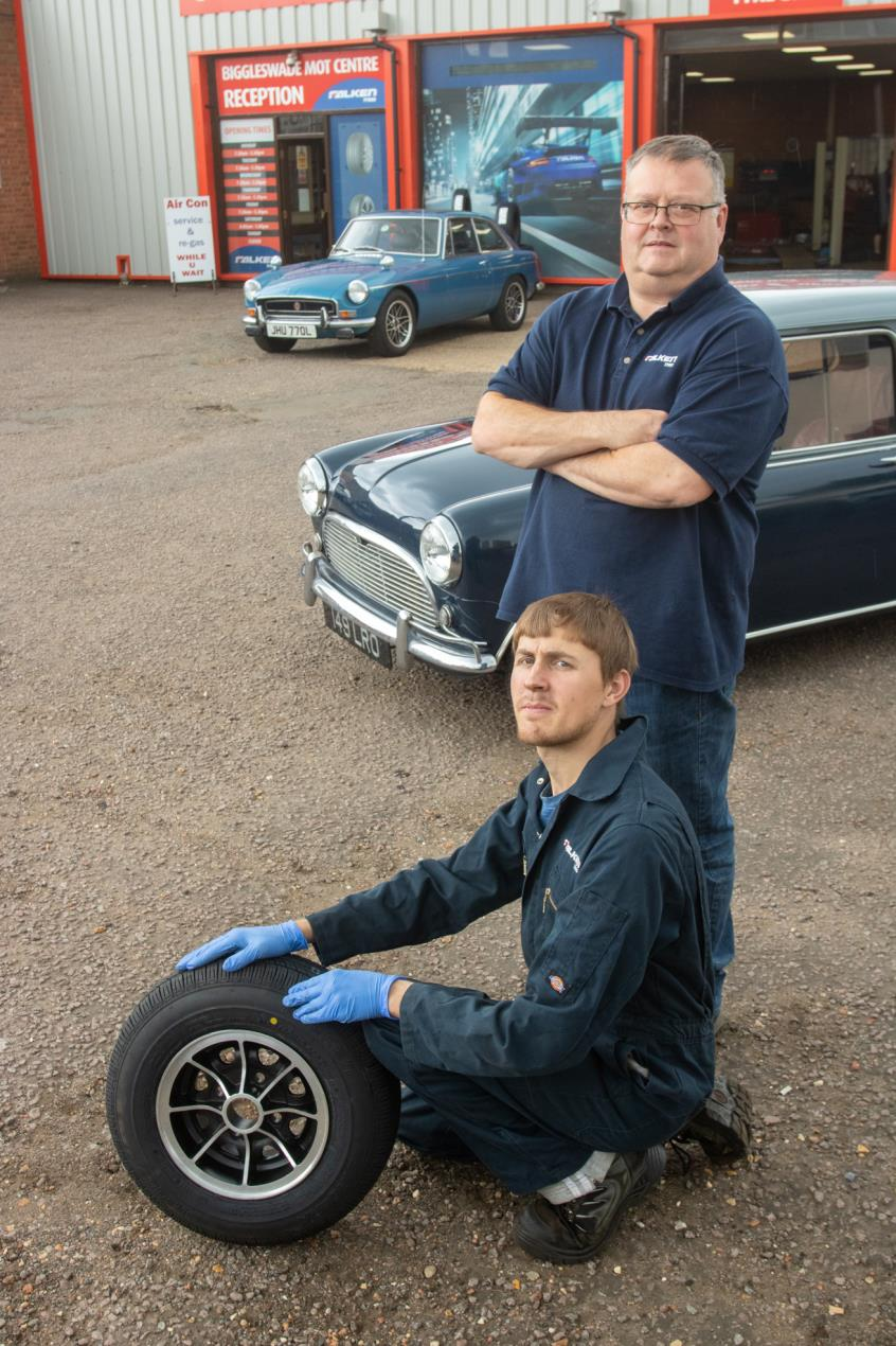 Biggleswade Tyres  - Fitting Falken tyres to classics
