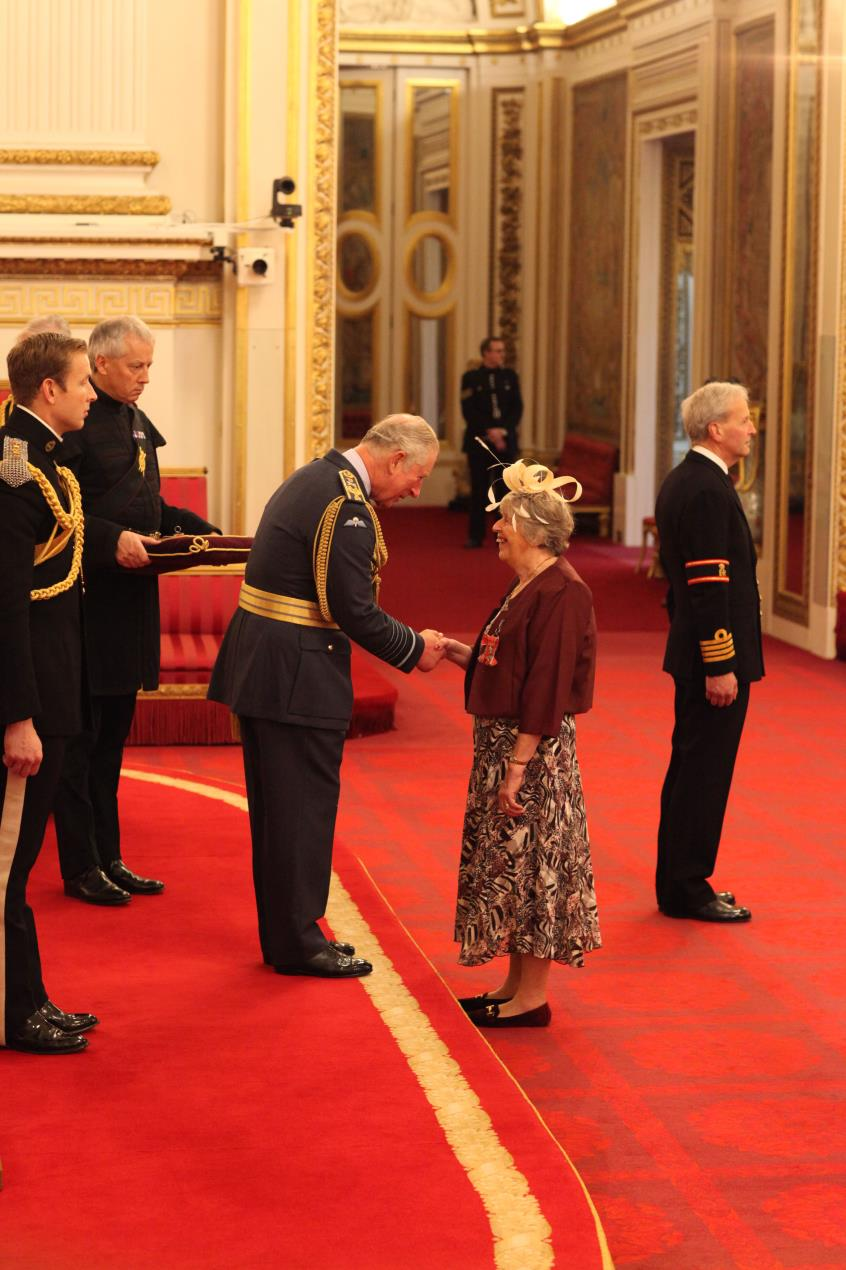 Foster Carer Chris Meadows receives MBE
