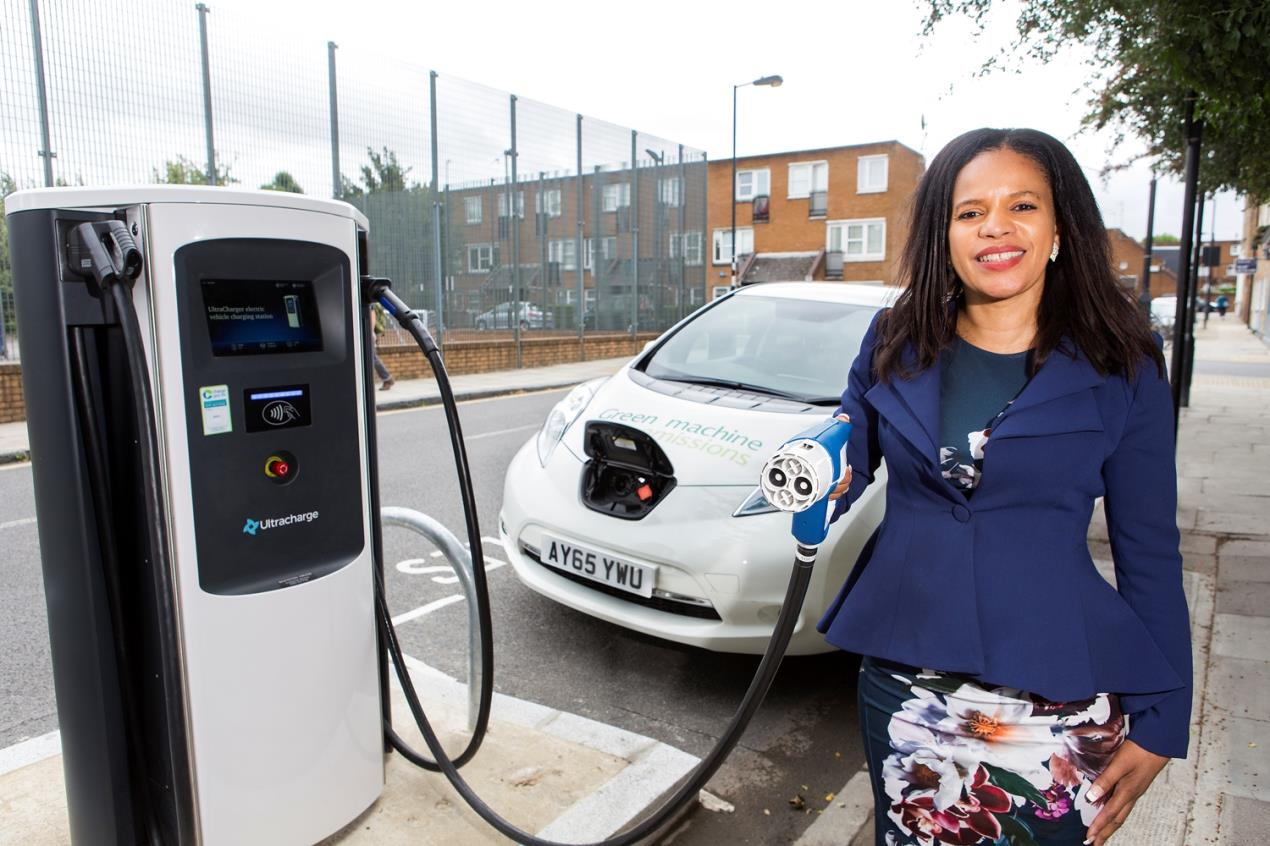 Claudia_Webbe_with_Islington_Council%27s_first_on-street_rapid_charger