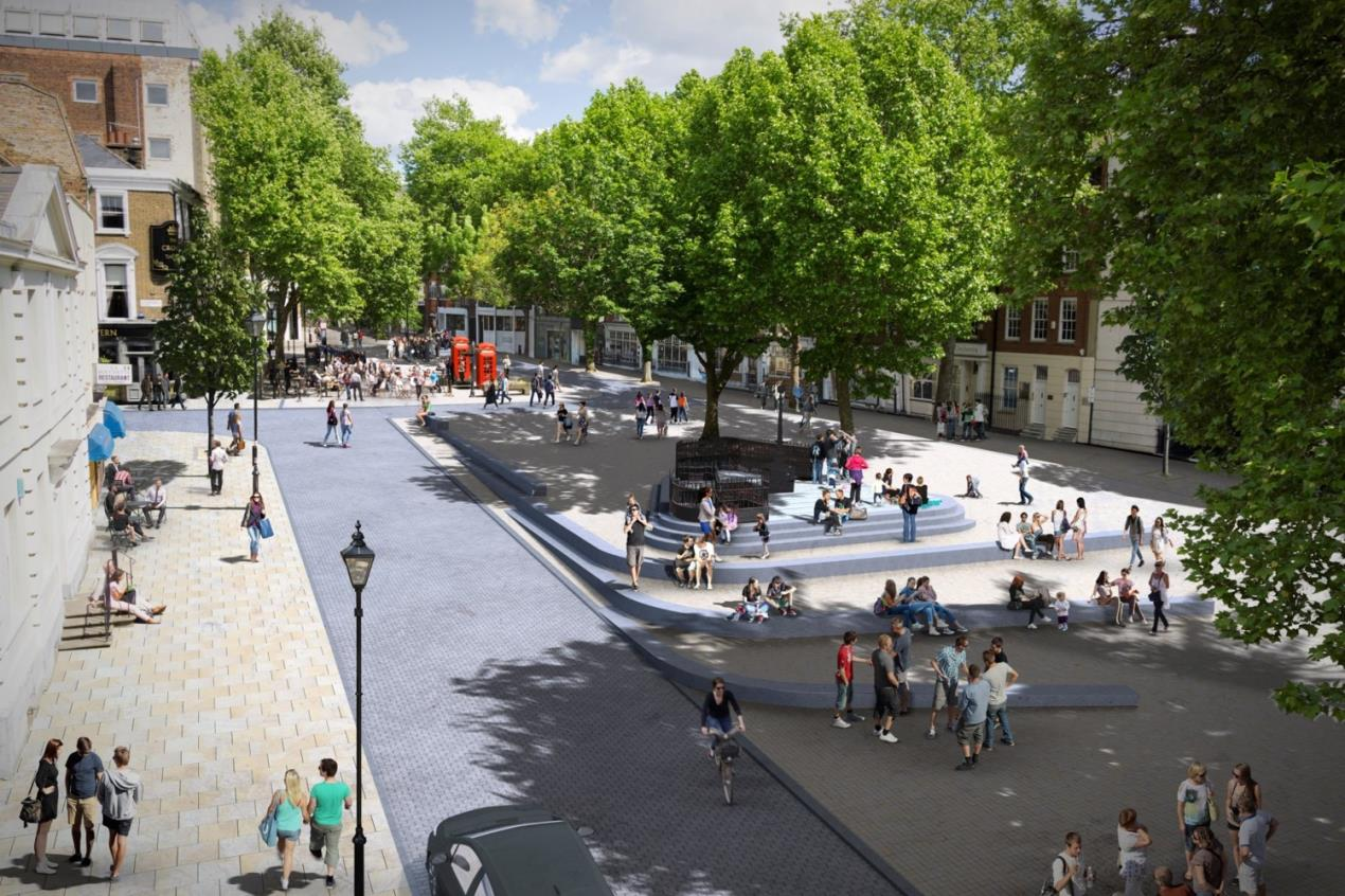 Clerkenwell_Green_proposal_-_view_looking_towards_Aylesbury_Street_from_Clerkenwell_Green_Estate