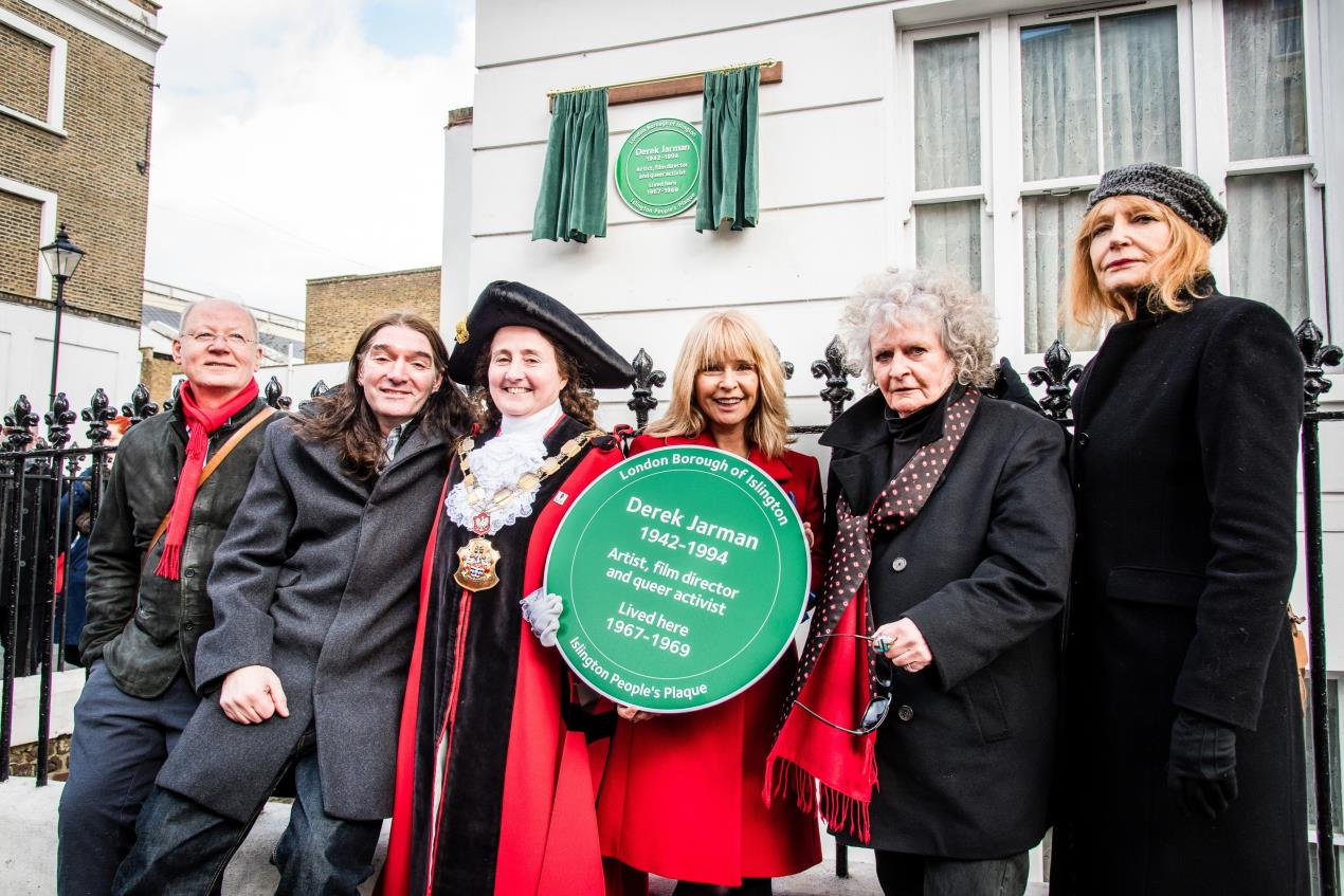 Friends of Derek Jarman at the unveiling of his People's Plaque