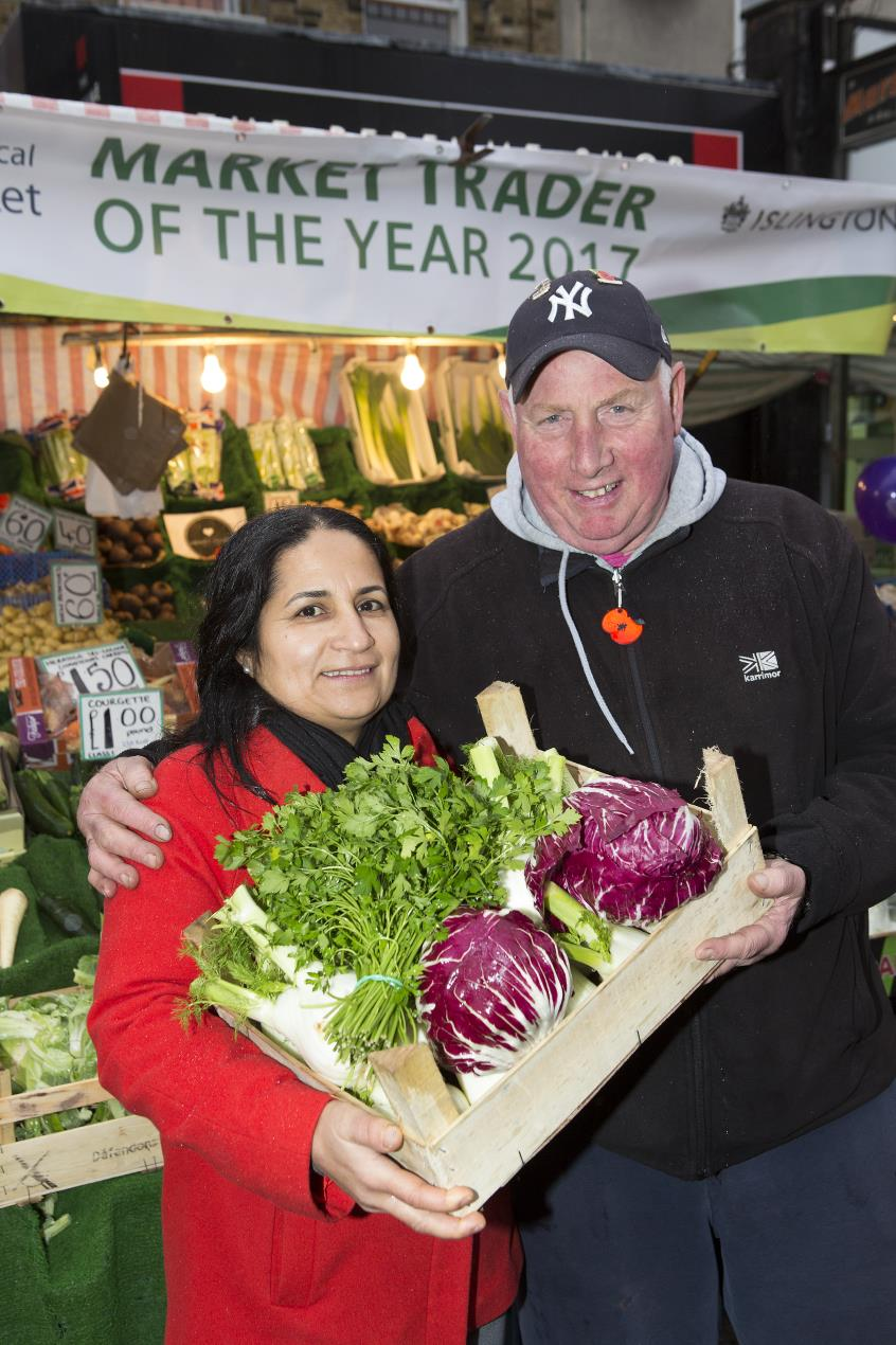 Local traders Serpil and Dave at Market Trader of the Year 2017