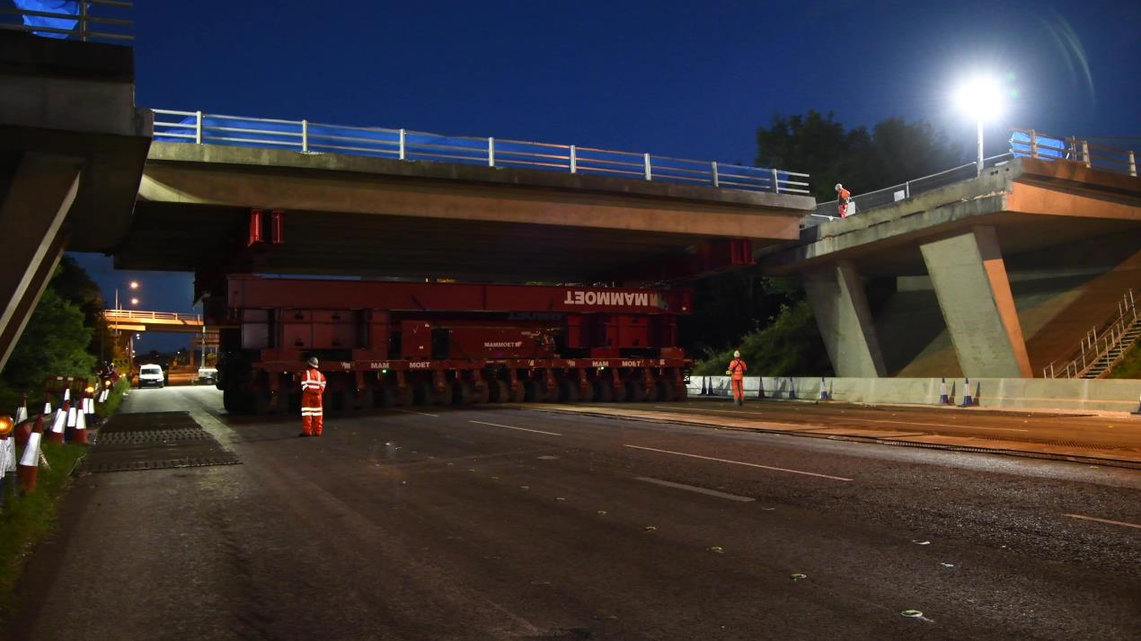 M53 bridge removal 1