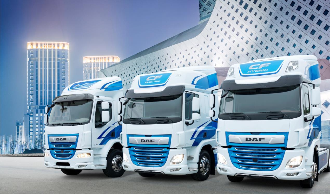 DAF LF Electric, CF Electric and CF Hybrid Trucks