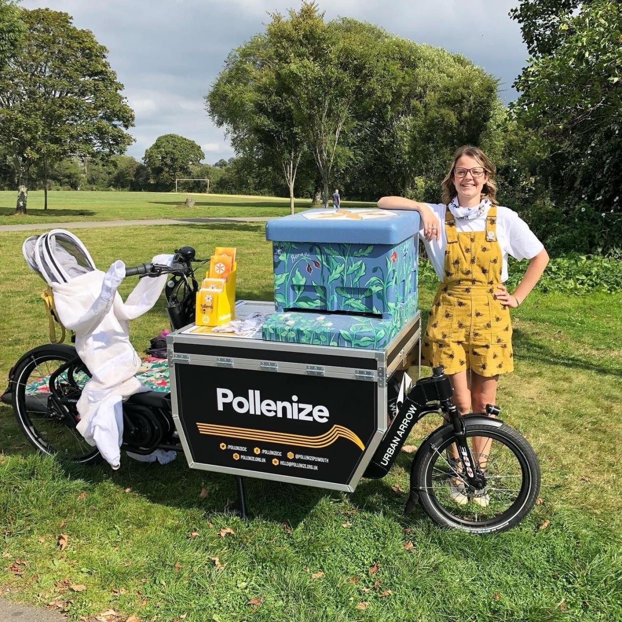 Brittany Clarke with their E-cargo bike_Credit_University of Plymouth