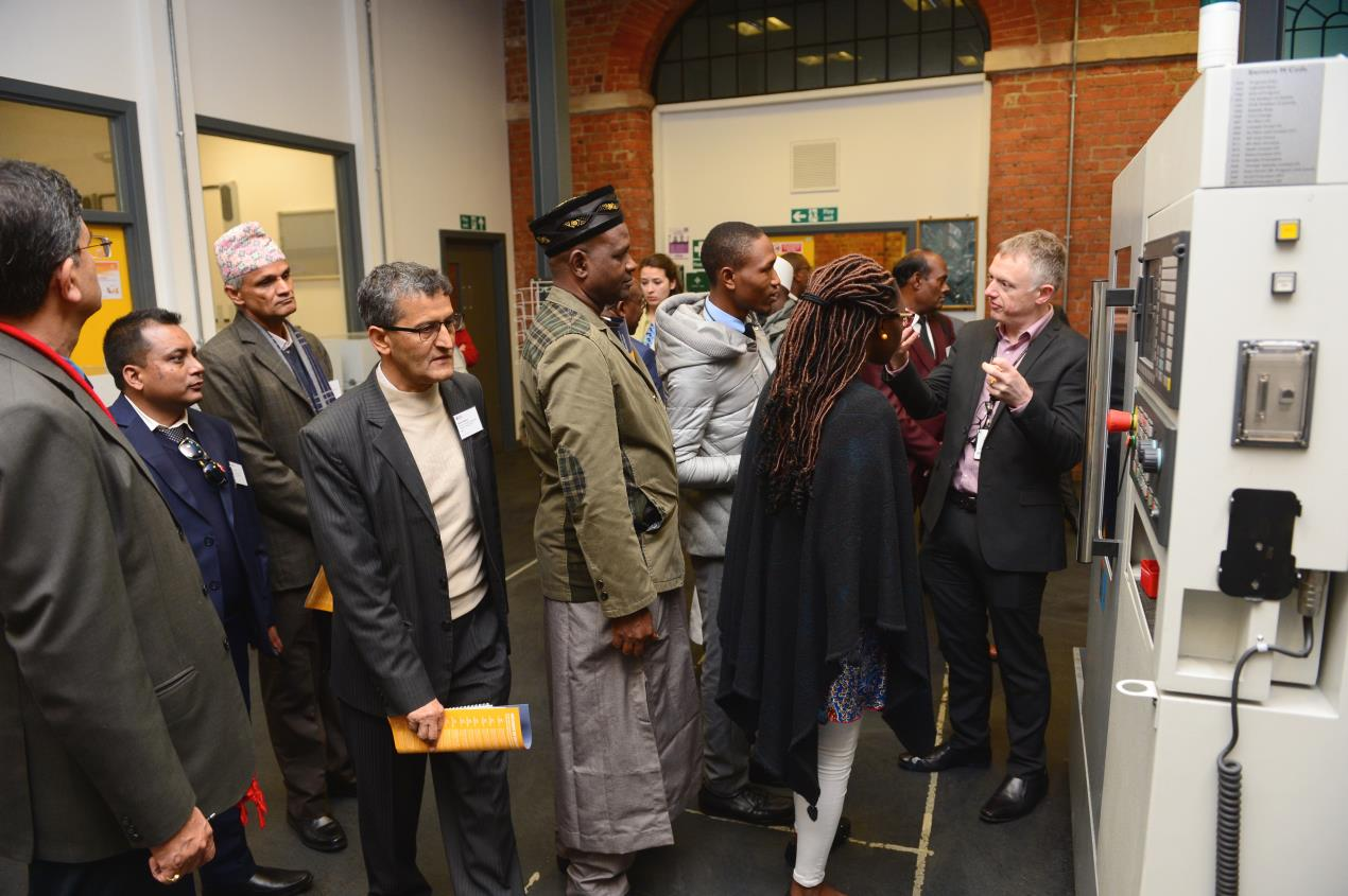 British Council delegates tour Engineering at DCG 2