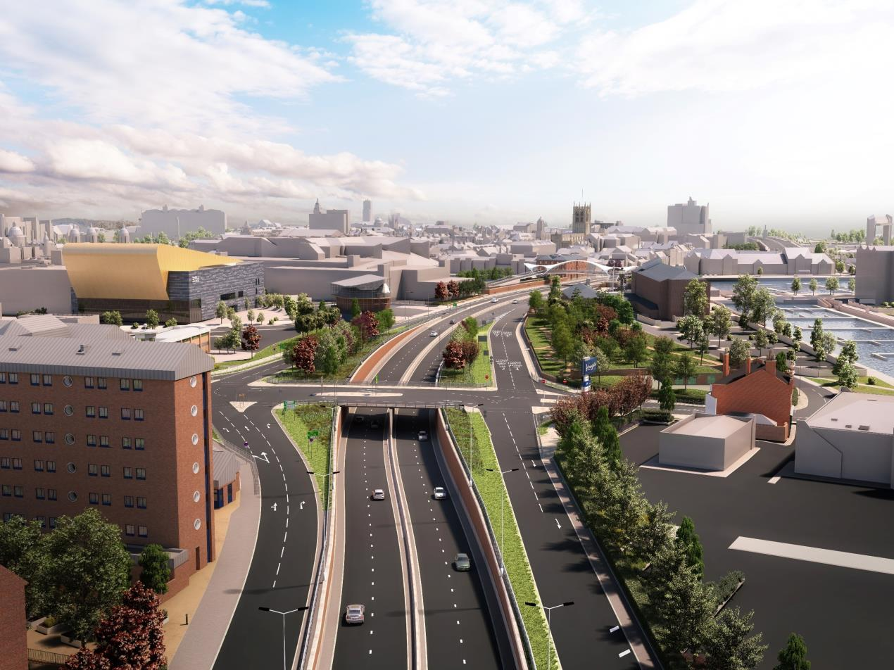 A63 Castle Street aerial view