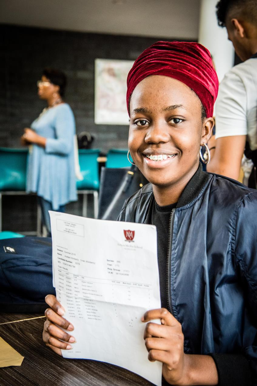AMSI_student_Kimberly_Onen_with_her_GCSE_results
