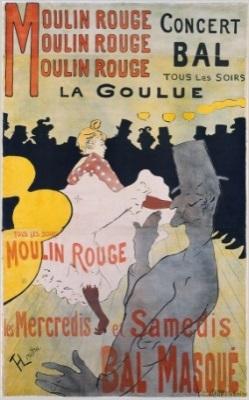 Image result for TOULOUSE-LAUTREC moulin rouge - la goulue