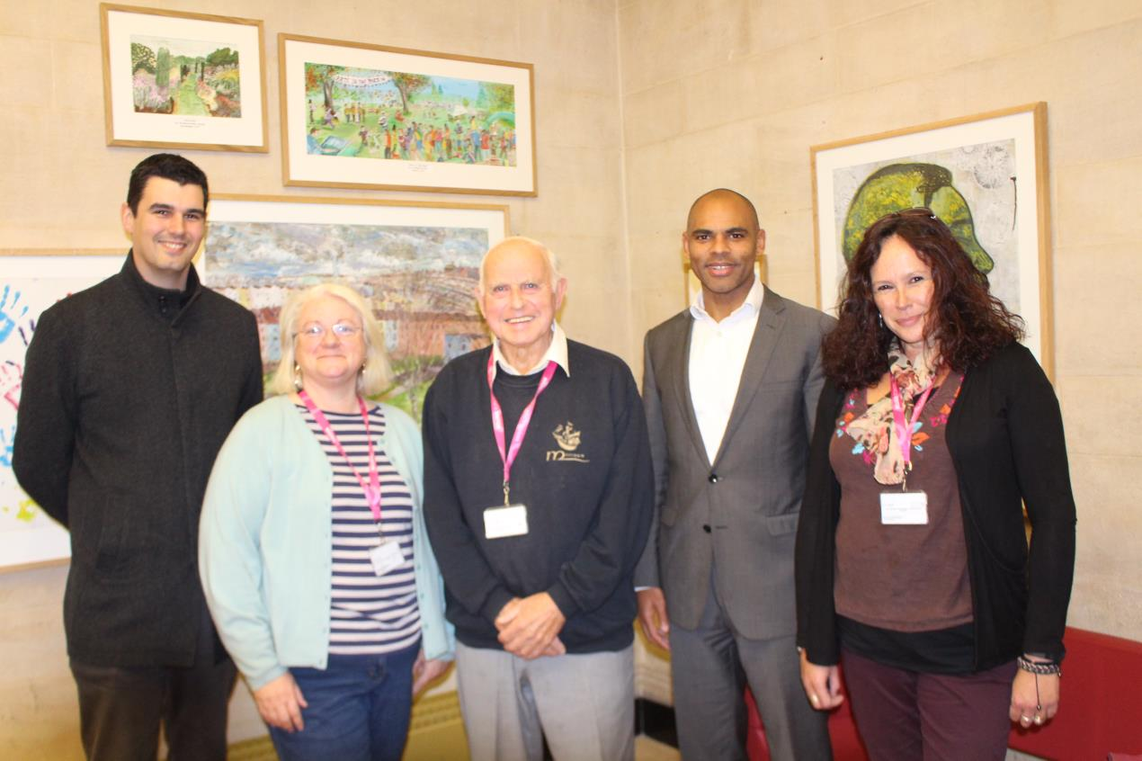 Marvin Rees unveils new pieces of community art inside City Hall
