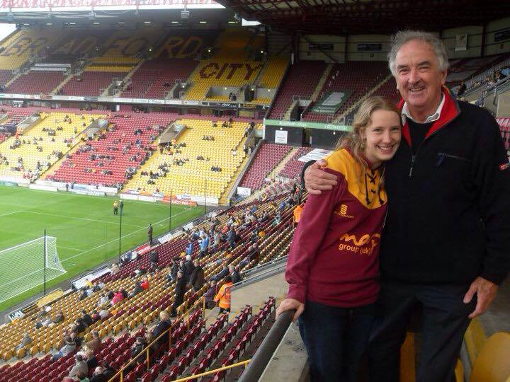 Polly Penter pic 5 (at the match with her adoptive father)