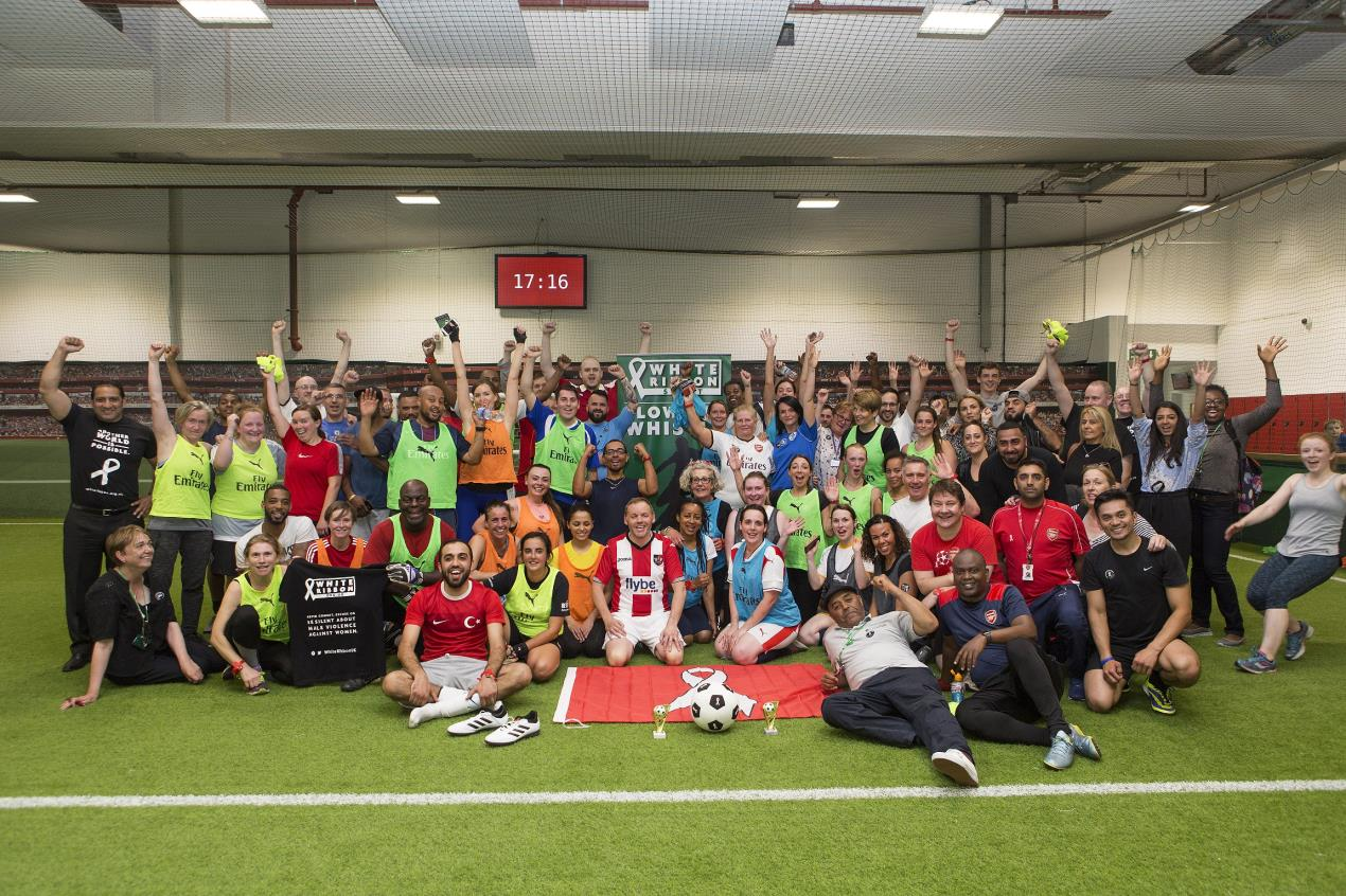 Players and teams at 'Show Domestic Violence the Red Card'