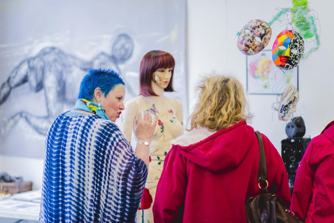 Yvonne Mousley at the Making Change exhibition
