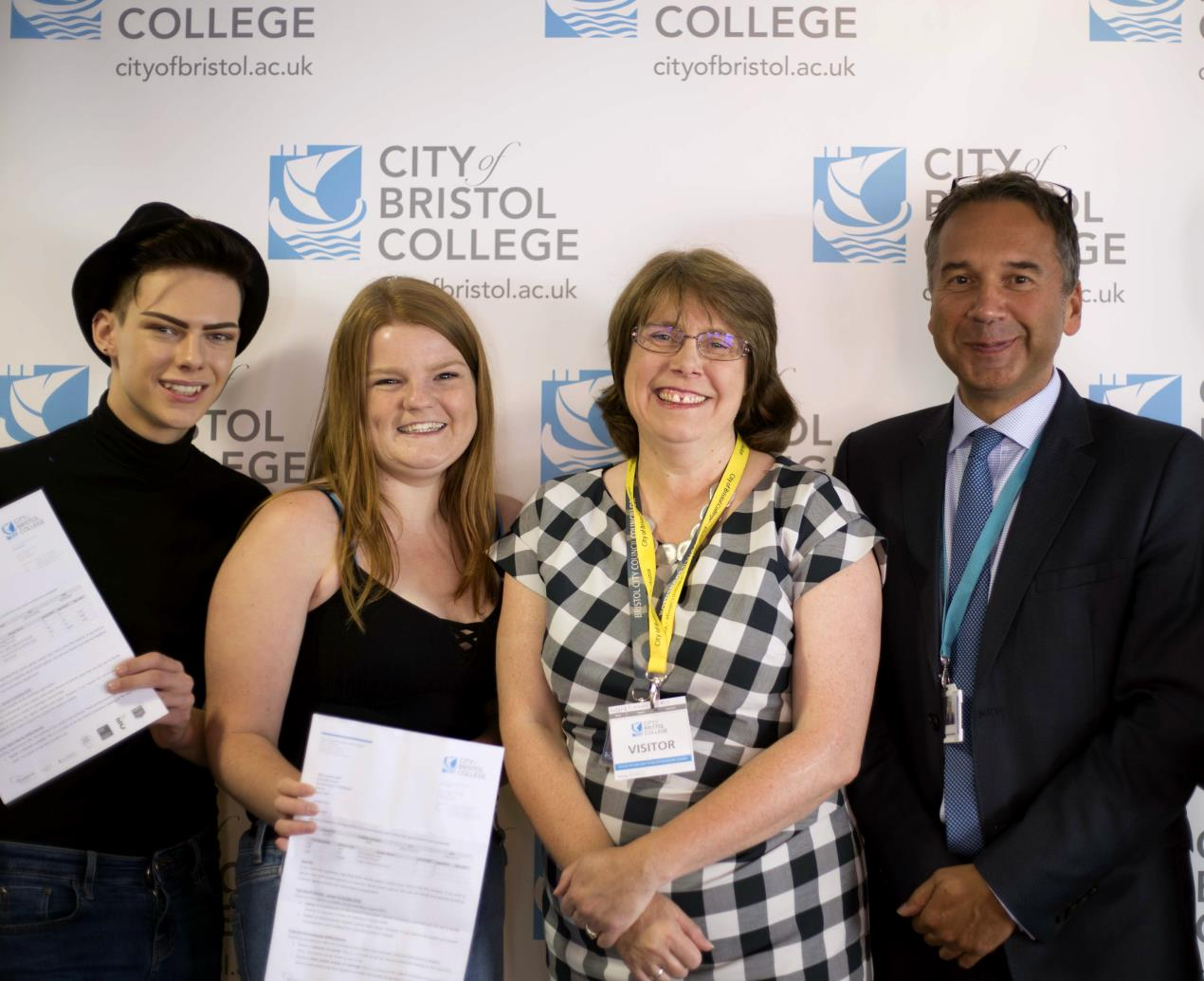 Students celebrate A-level results in Bristol