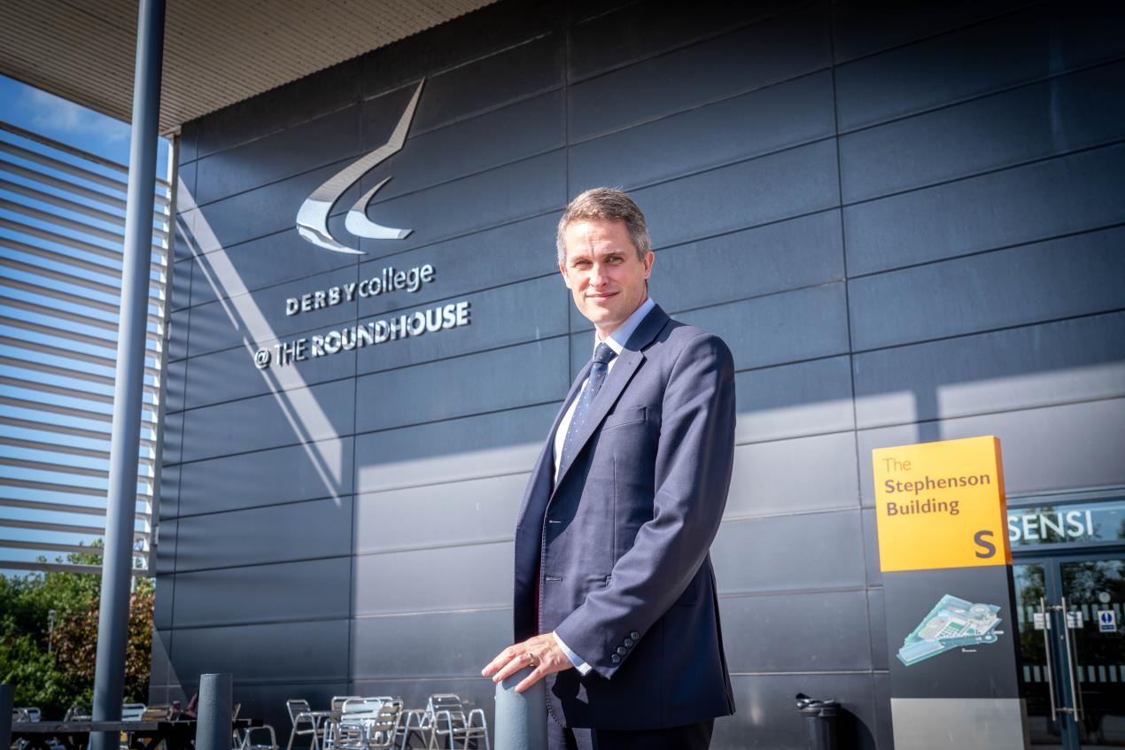 Gavin Williamson at the Roundhouse college