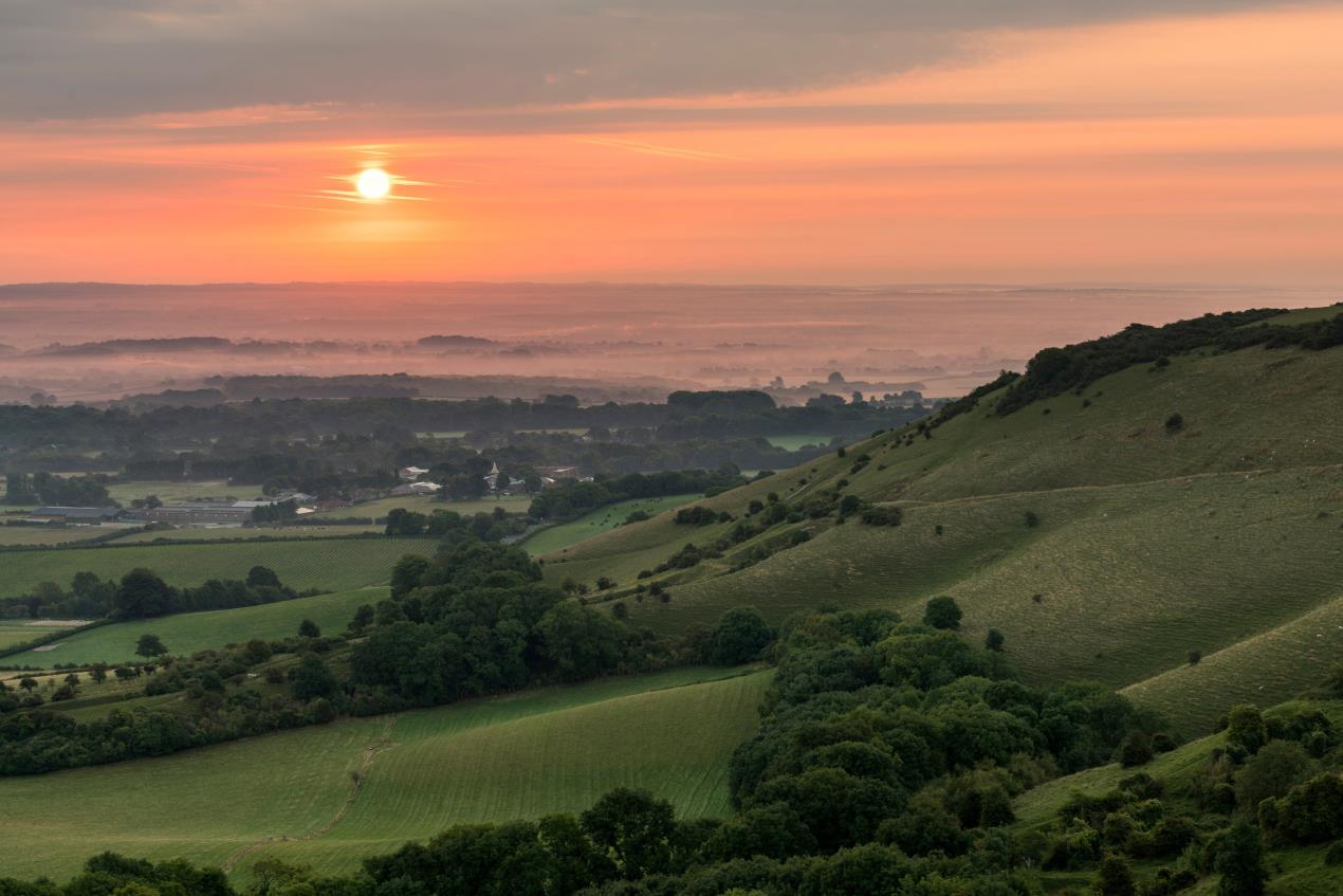 Ditchling Beacon in the South Downs National Park by Sam Moore