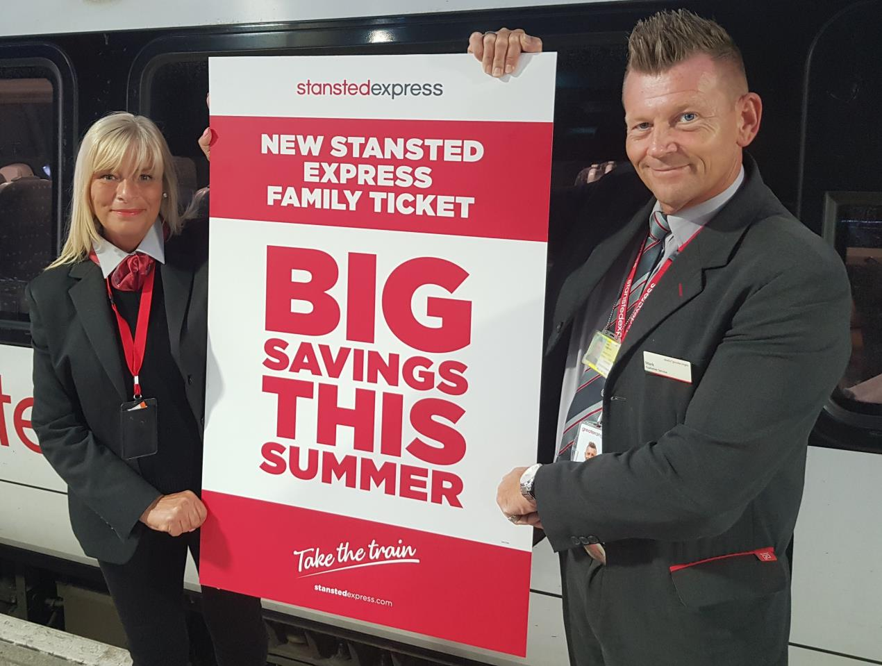 New Stansted Express family ticket - big savings this summer